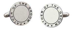 Onyx Art Father Of The Groom Wedding Mens Cufflinks - Suitable For Engraving
