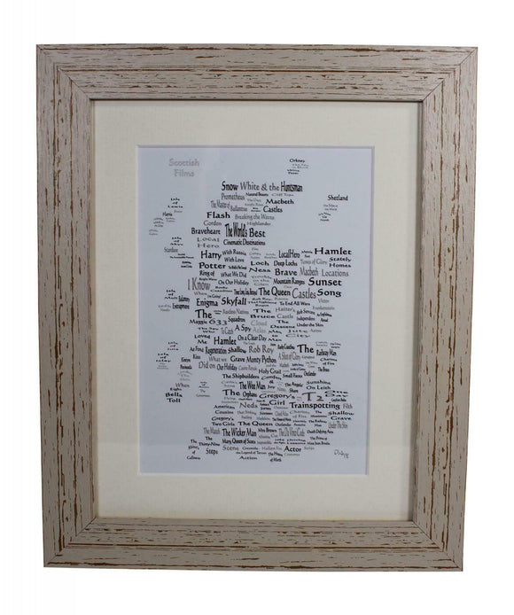 Art By The Loch Handmade Scottish Films Movies Word Art Picture