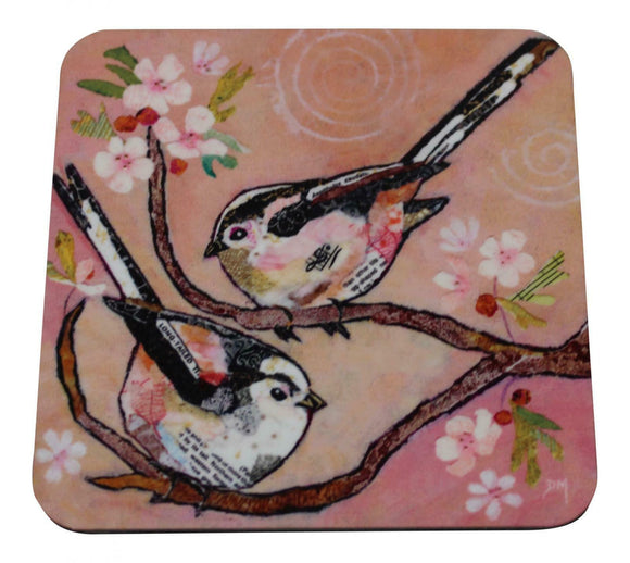 Dawn Maciocia 'Bottoms Up' Cute Finch Bird Coaster Table Mat