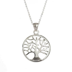 Tide Jewellery Sterling Silver Tree Of Life Necklace Pendant