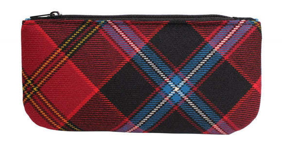 Tasteful Tartans Luxurious German American Tartan Suede Make Up Pouch Bag Purse