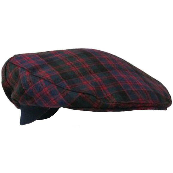 Authentic MacDonald 100% Scottish Tartan Golf Cap - One Size Fits All