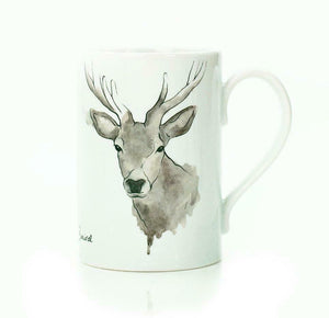 Clare Baird Scottish Proud Highland Stag Porcelain Mug Cup
