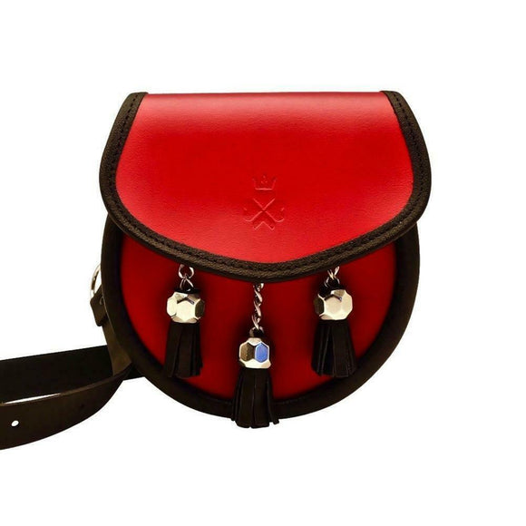Nixey 1834 Classic Collection Red 100% Leather Sporran Handbag Purse