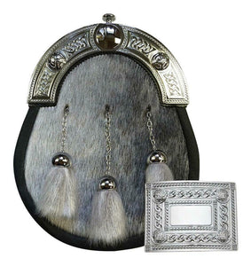 Handcrafted Seal Skin Sporran & FREE matching Buckle - Limited Stock