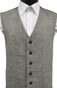 Classic Worsted Wool Handle Traditional Style Waistcoat - Grey