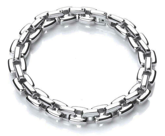 Gaventa London Mens Link Stainless Steel Bracelet Bangle