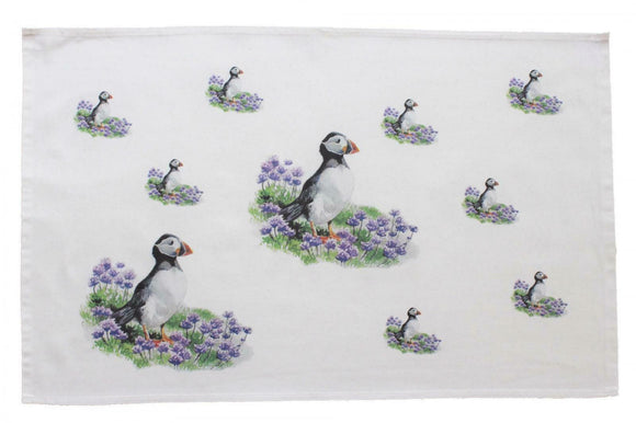 Orkney Storehouse Scottish Highland Puffin Kitchen Tea Towel