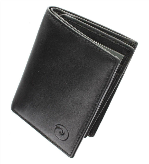 Origin Mens Shirt Pocket Purse Wallet Mala Leather RFID Protectected