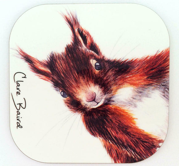Clare Baird Red Squirrel Coaster Table Mat