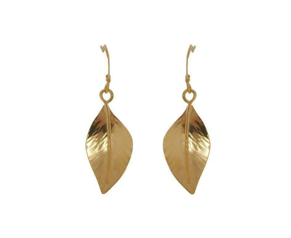 Claire Hawley Handcrafted Sterling Silver & Gold Vermeil Wild Apple Leaf Earring