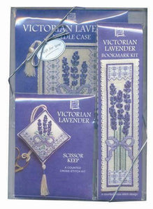 Victorian Lavender Cross Stitch Gift Pack