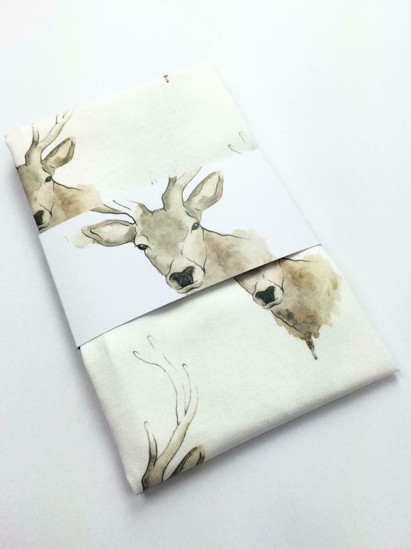Clare Baird Scottish Highland Stag 100% Cotton Tea Towel