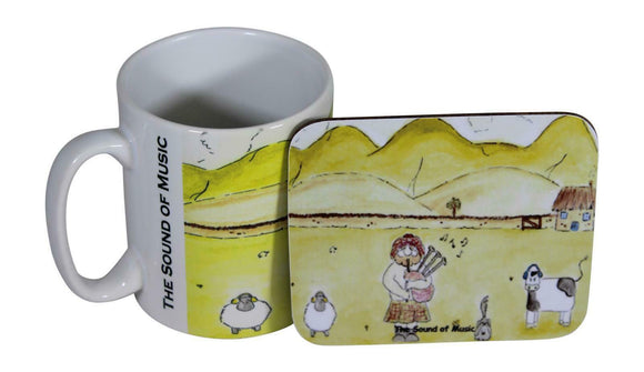 Jubbly Jock Quirky Scottish Humour Movie Mug & Coaster Set - The Sound Of Music