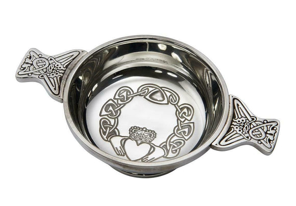 Wentworth Pewter Celtic Claddagh Friendship Toasting Celebration Quaich