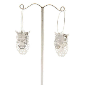 Love The Links Silver or Gold Coloured 3D Effect Cascading Owl Dangly Earrings