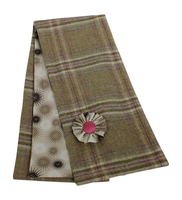 Stunning Blossom Tweed Shawl Wrap Scarf With Stone Cotton Lining