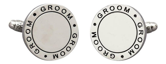 Onyx Art London Groom Wedding Mens Cufflinks - Suitable For Engraving