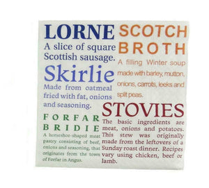 Glen Appin Of Scotland Scottish Food Delicacies 3 Ply Paper Napkins