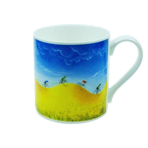 Lucy Pittaway 'Rewards' Scenic Cycling Cyclist Bike Fine Bone China Mug Cup