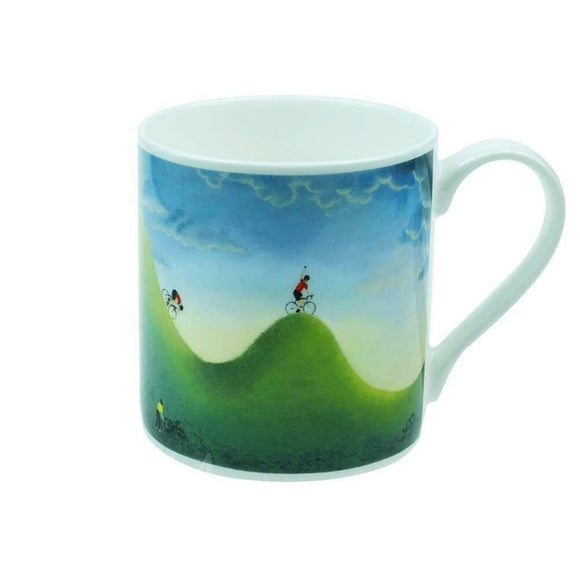 Lucy Pittaway 'Courage' Scenic Cycling Cyclist Bike Fine Bone China Mug Cup