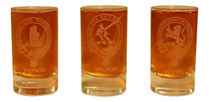 Collins Glencairn Clan Crest Crystal Dram Tot Glass - Watson Wilson Young