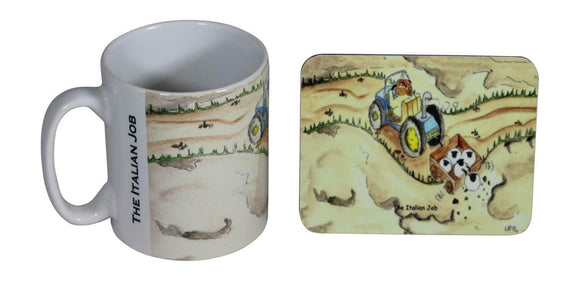 Jubbly Jock Quirky Scottish Humour Movie Mug & Coaster Set - The Italian Job