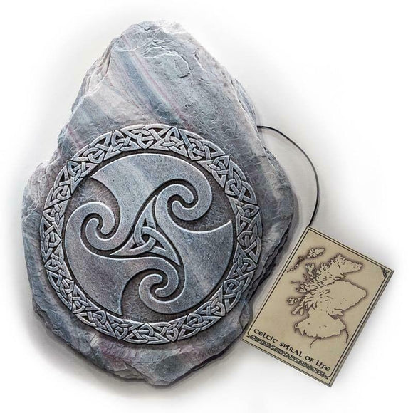 Scottish Celtic Spiral Wall Plaque, Sign, Picture - Indoor Outdoor Use.