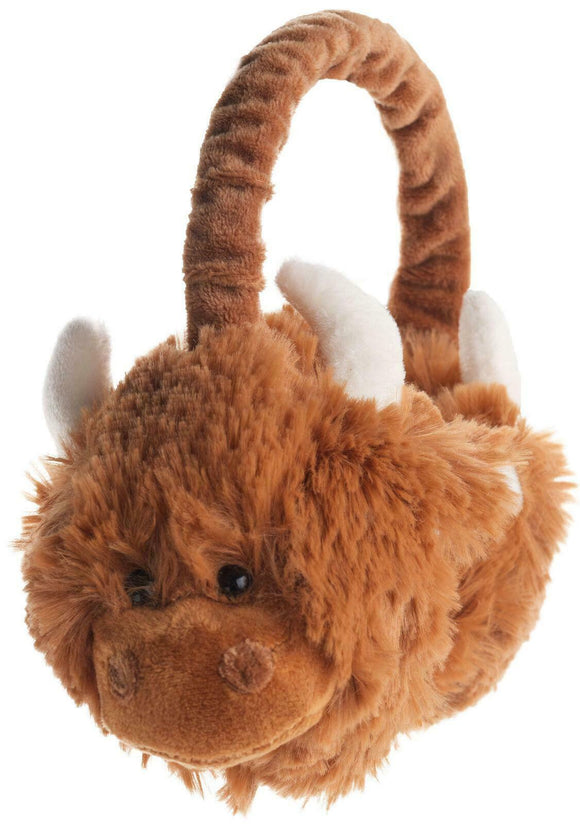 Jomanda Scottish Highland Cow Coo Unisex Childs Earmuff Warmer