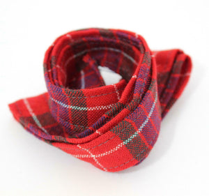100 % Pure Wool Traditional Tartan Ribbon - 1 Inch x 54 Inches - Fraser