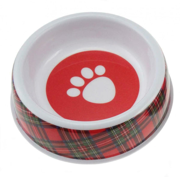 Glen Appin Red Tartan Royal Stewart Melamine Dog Puppy Food Water Bowl