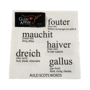 Glen Appin Of Scotland Auld Scots Words Scottish Words 3 Ply Paper Napkins