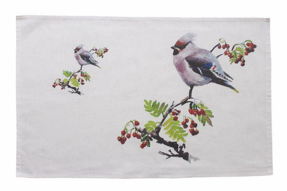 Orkney Storehouse Waxwing Kitchen Tea Towel