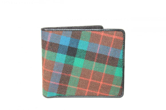 100% Scottish Tartan & Real Leather Mens Wallet - MacDuff Hunting
