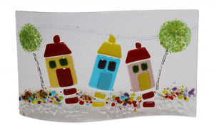 Jules Jules Hand Crafted New Home House Fused Glass Wave Panel