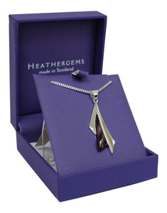 Stunning Sycamore Silver Plated Scottish Heathergem Necklace