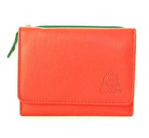Toucan Celtic Napa Leather Two Tone Ladies Purse - Three Variations Available