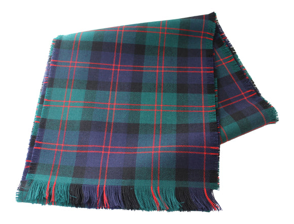Traditional Scottish Tartan 100% Wool Plain Full Fringed Sash - Blair Modern
