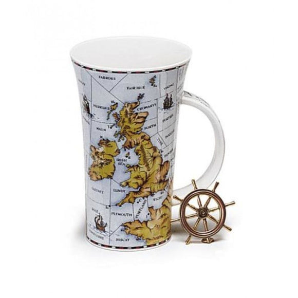 Lovely Dunoon Shipping Forecast Fine Bone China Mug Glencoe Style
