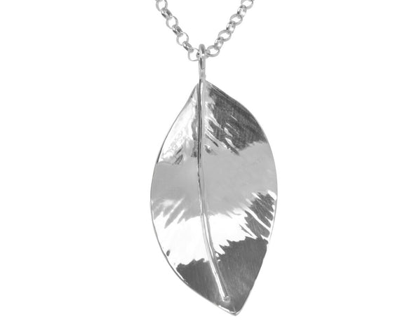 Claire Hawley Handcrafted Sterling Silver Wild Apple Tree Leaf Pendant & Chain