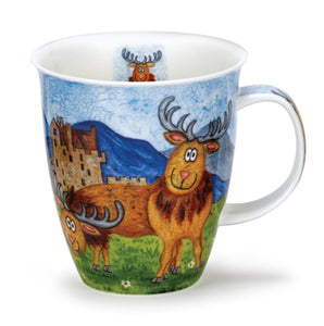 Lovely Highland Stag Dunoon Fine Bone China Mug Nevis Shape