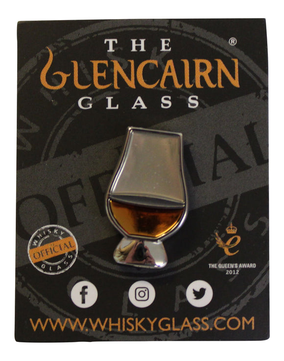 Official Glencairn Whisky Whiskey Tasting Glass Enamelled Lapel Pin Badge