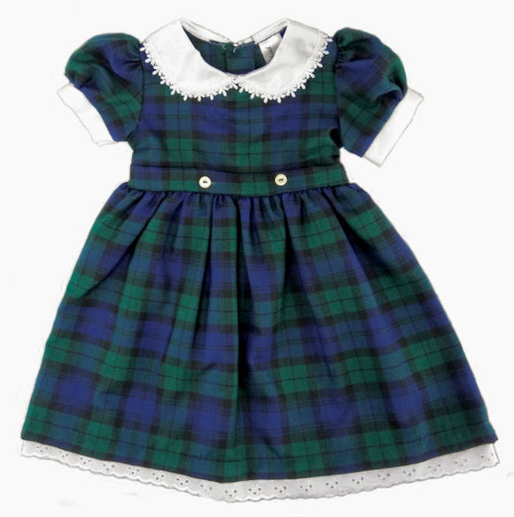Glen Appin of Scotland Tartan Dress with Belt Ties - Blackwatch