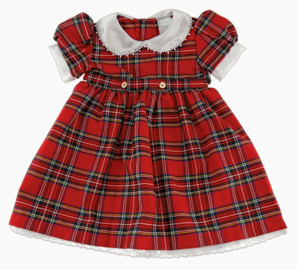 Glen Appin of Scotland Tartan Dress with Belt Ties - Royal Stewart