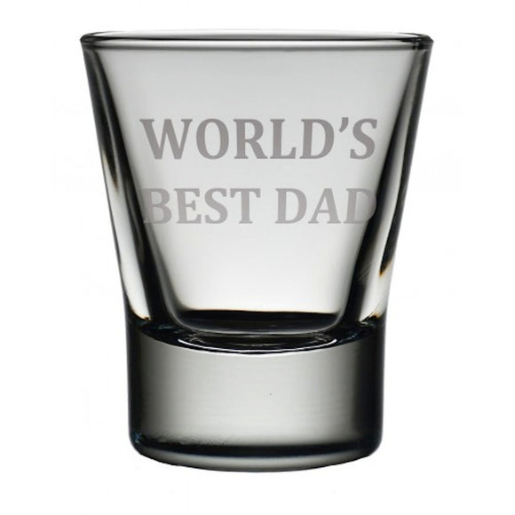 Engraved Dram Tot Shot Glass 'World's Best Dad'