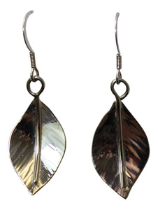 Claire Hawley Handcrafted Sterling Silver Wild Apple Tree Leaf Earrings