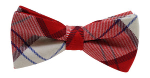 Luxury Lennox Dress Red Tartan 'Sophisticate' Classic Adjustable Pre-tied Bow Tie