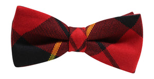 Luxury Wallace Tartan 'Sophisticate' Classic Adjustable Pre-tied Bow Tie