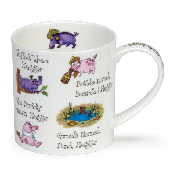 Lovely Dunoon Machoots Fine Bone China Mug Orkney Shape Scottish Haggis Design