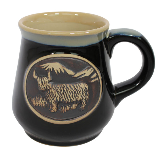 Stoneware Piping Hot Mug Featuring A Highland Cow Coo
